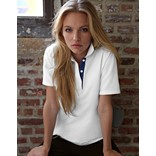 ANVIL WOMENS DOUBLE PIQUE POLO