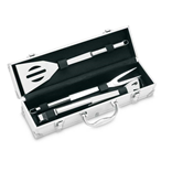 ASADOR - 3 BBQ TOOLS IN ALUMINIUM CASE