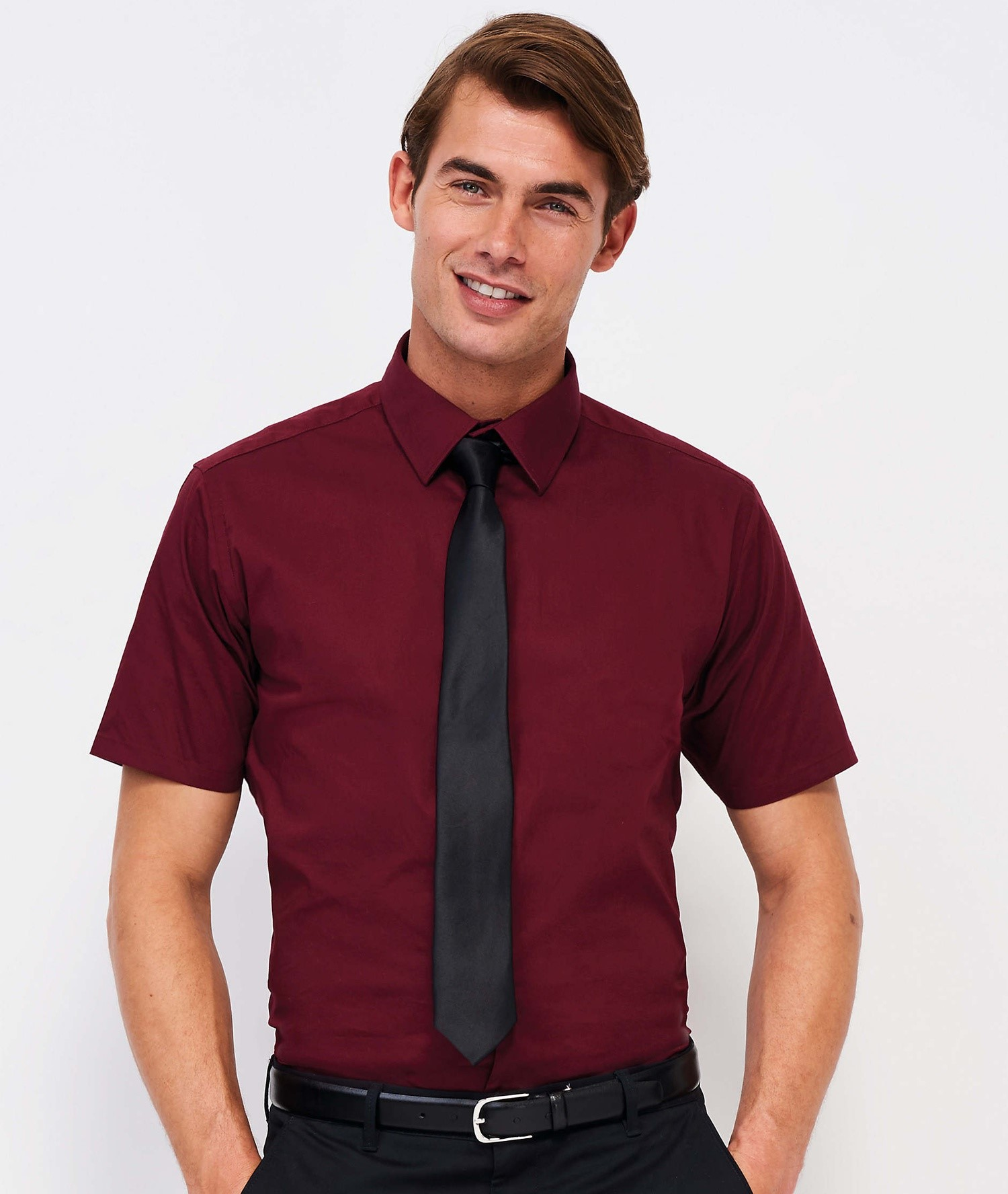 BROADWAY SHORT SLEEVE STRETCH MEN'S SHIRT