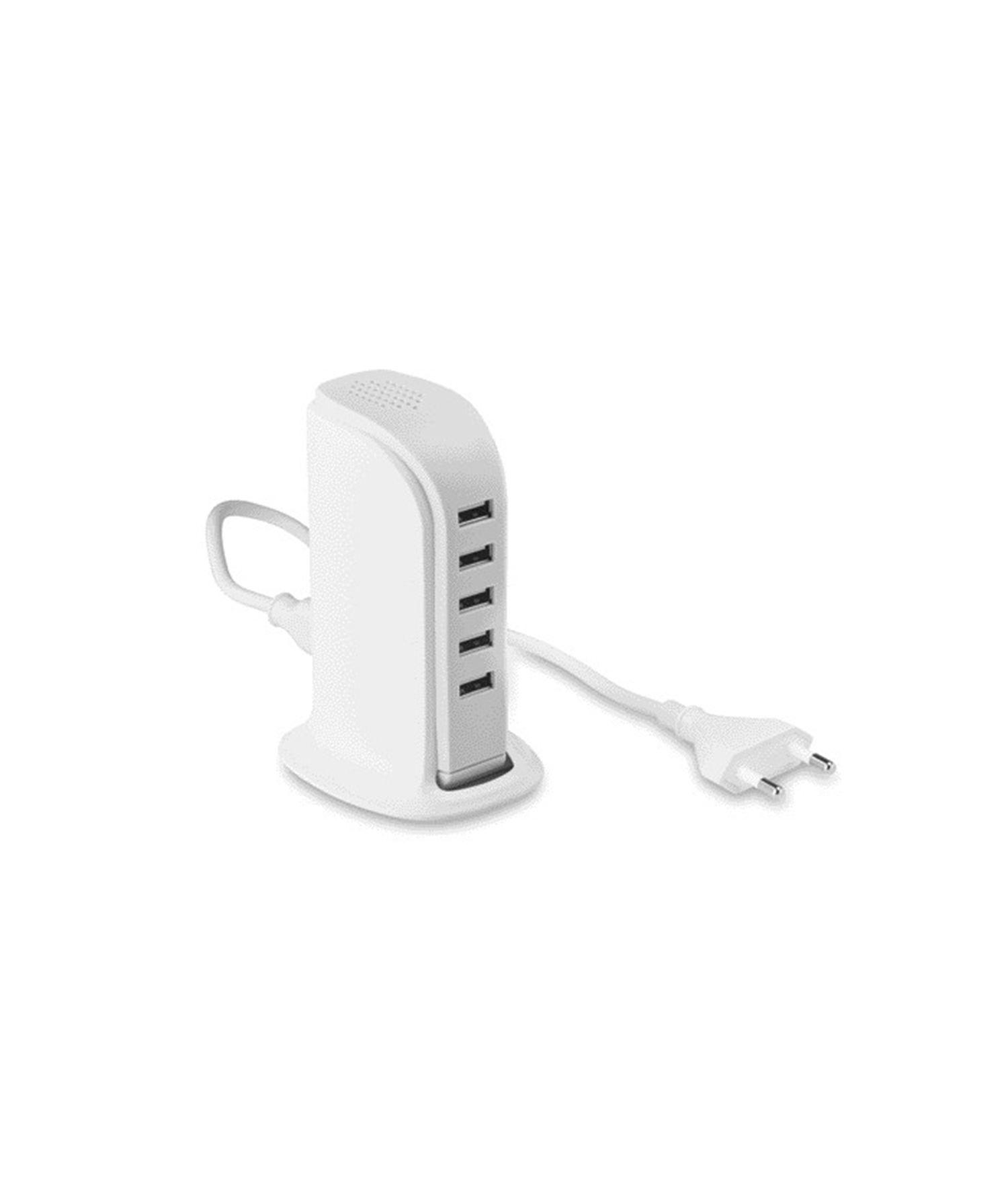 BUILDY - 5 PORT USB HUB WITH AC ADAPTOR