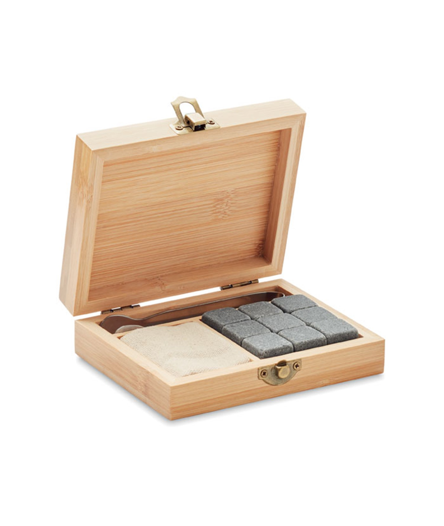 DUNDALK - WHISKY SET IN BAMBOO BOX