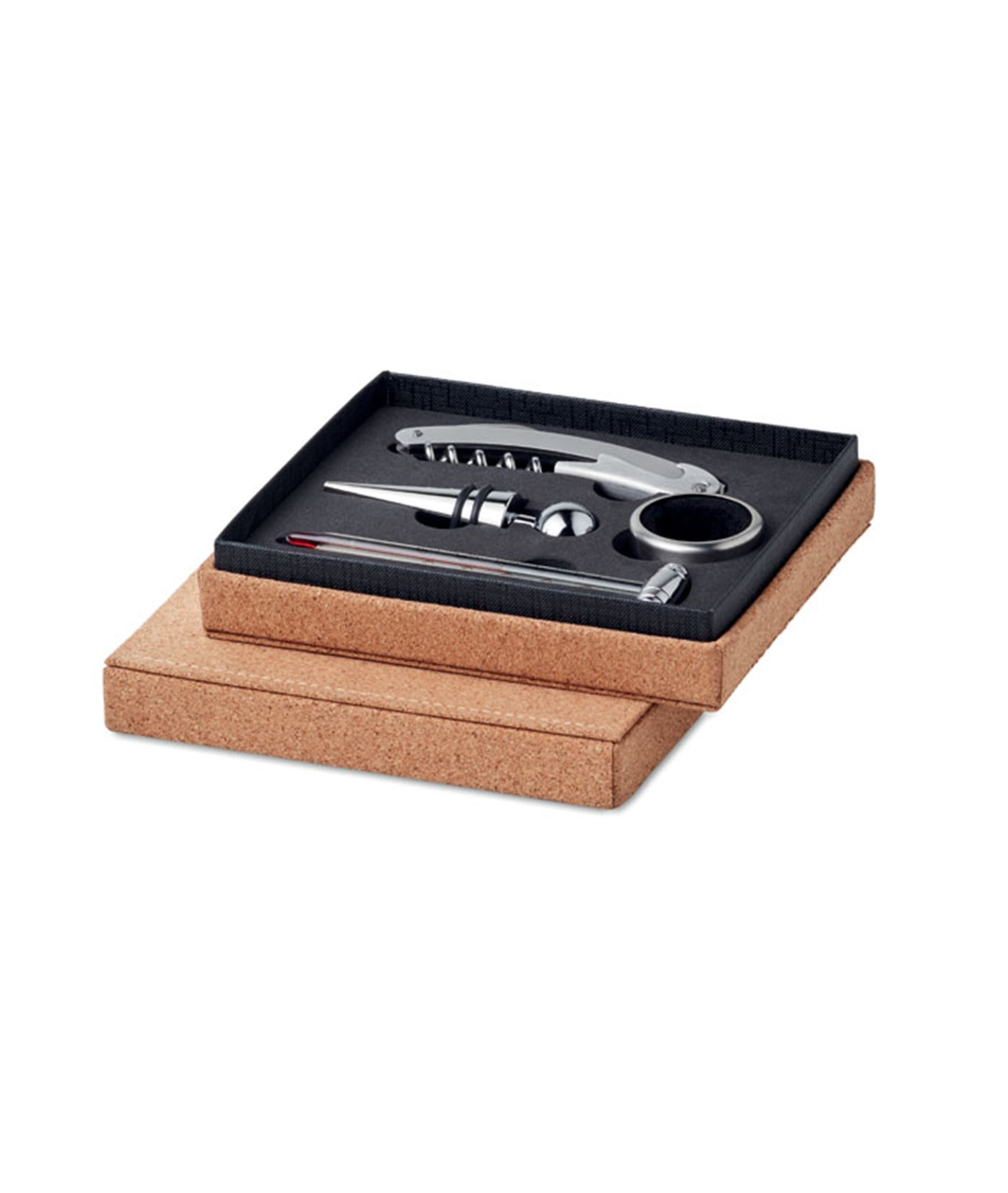 GISBORNE - WINE SET 4 PCS CORK BOX