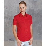 LADIES' SHORT-SLEEVED COTTON POPLIN SHIRT