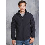 MEN'S HOODED SOFTSHELL JACKET
