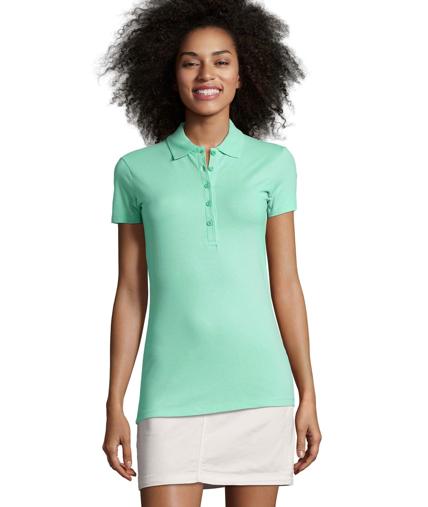 PHOENIX WOMEN COTTON-ELASTANE POLO SHIRT