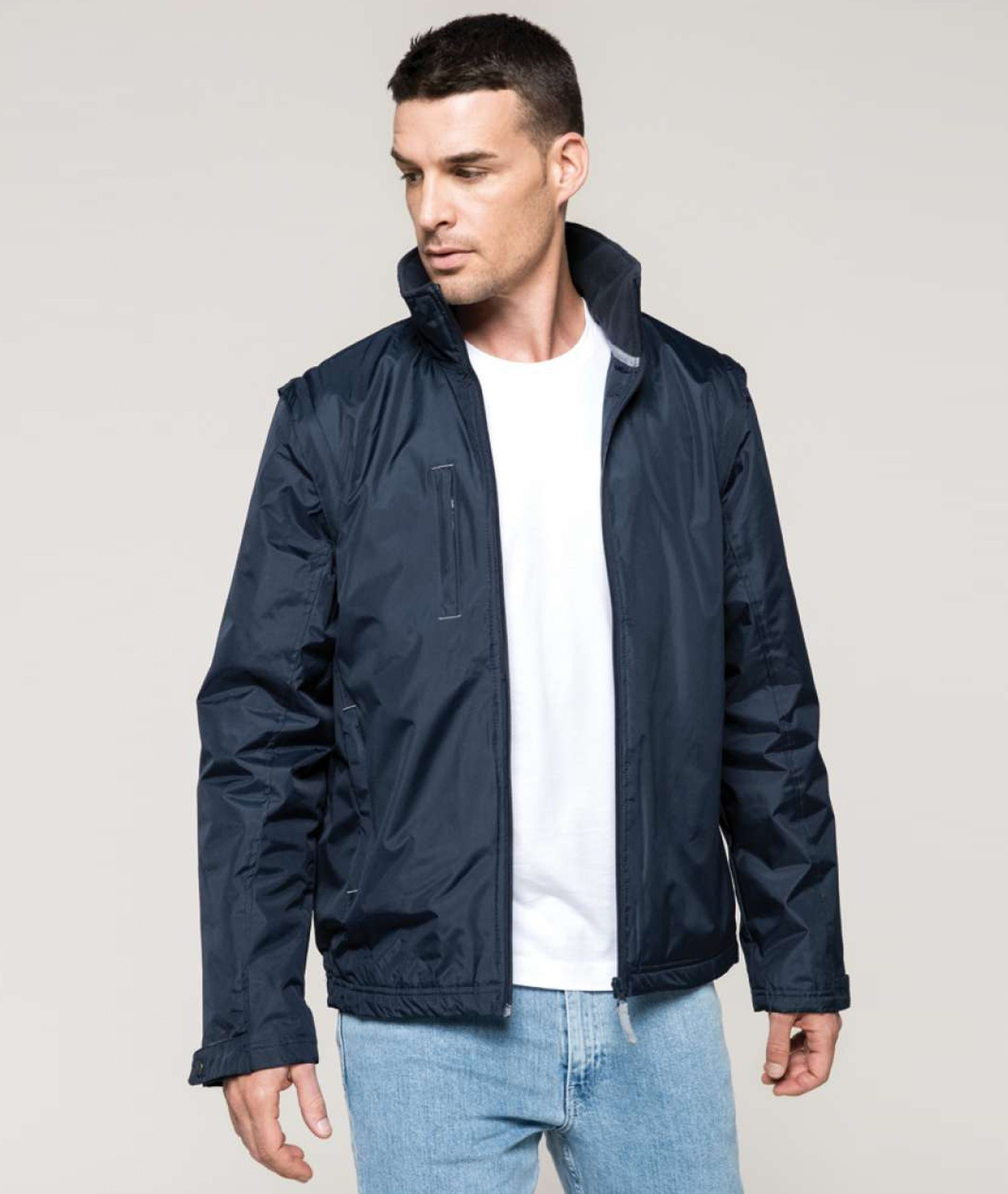 SCORE - DETACHABLE SLEEVE BLOUSON JACKET