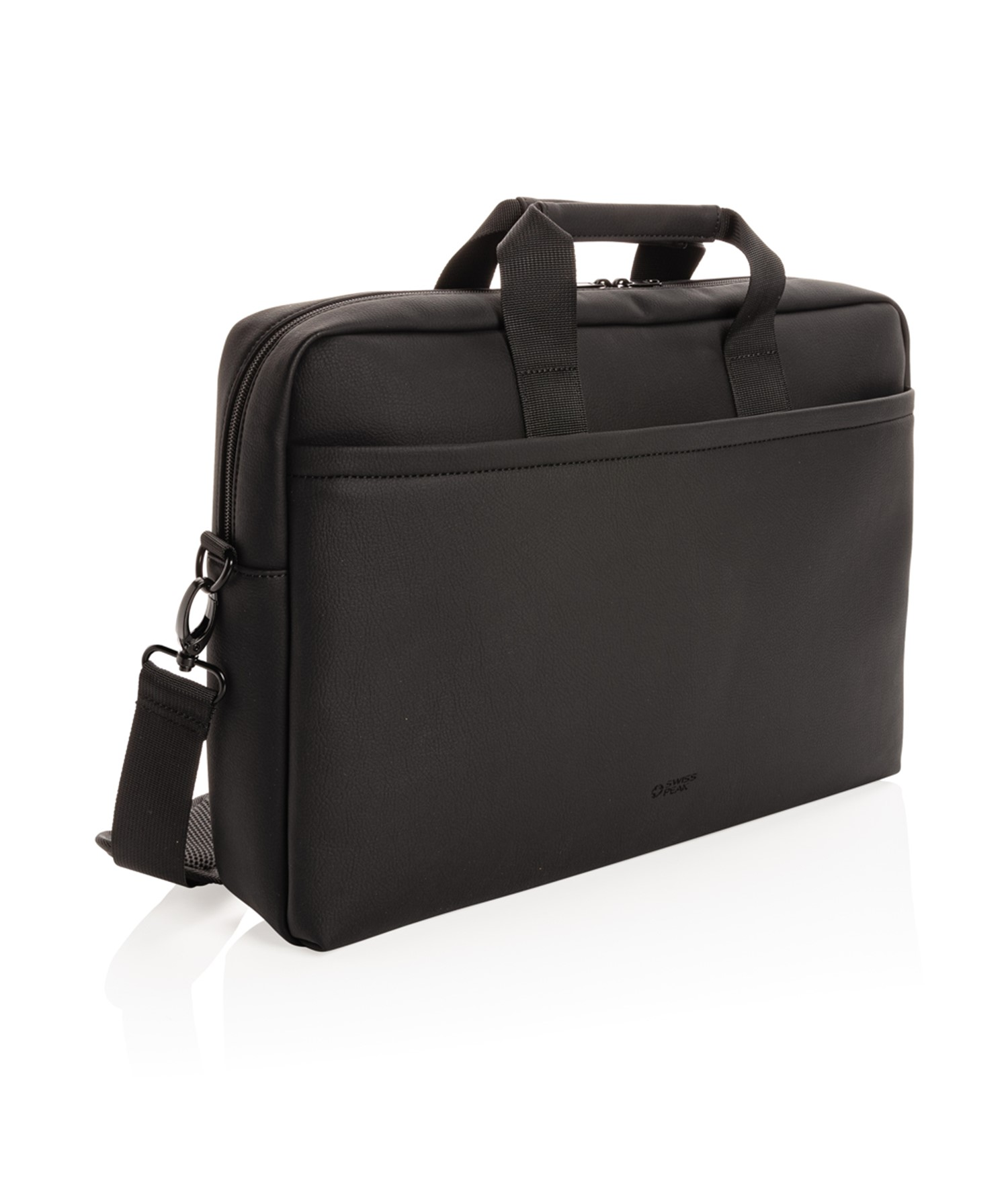 SWISS PEAK DELUXE VEGAN LEATHER LAPTOP BAG PVC FREE