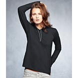 WOMEN'S LIGHTWEIGHT LONG SLEEVE HOODED TEE